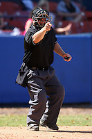 March 14, 2010:  Umpire Nick Betts during a college game at Chain of Lakes Park in Winter Haven, FL.  Photo By Mike Janes/Four Seam Images