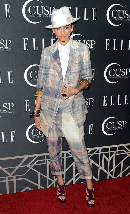 Zendaya arriving at 'ELLE 5th Annual Women In Music Concert Celebration' held at the Avalon Los Angeles, CA. April 22, 2014.