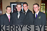 SUIT SMART: All suited up for the St Joseph's Secondary School, Ballybunion Debs in the Abbeygate Hotel on Saturday l-r: Damein Meehan, Padraig Rowan, Ger Gorman and Thomas O'Carroll.   Copyright Kerry's Eye 2008
