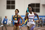 COLLEGE STATION, TX - MARCH 11: Diamond Gause of Alabama competes in the women's 4x400 meter relay during the Division I Men's and Women's Indoor Track & Field Championship held at the Gilliam Indoor Track Stadium on the Texas A&M University campus on March 11, 2017 in College Station, Texas. (Photo by Michael Starghill/NCAA Photos/NCAA Photos via Getty Images)