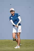 Wei-Ling Hsu (TPE) watches her tee shot on 2 during the round 3 of the Volunteers of America Texas Classic, the Old American Golf Club, The Colony, Texas, USA. 10/5/2019.<br /> Picture: Golffile   Ken Murray<br /> <br /> <br /> All photo usage must carry mandatory copyright credit (© Golffile   Ken Murray)