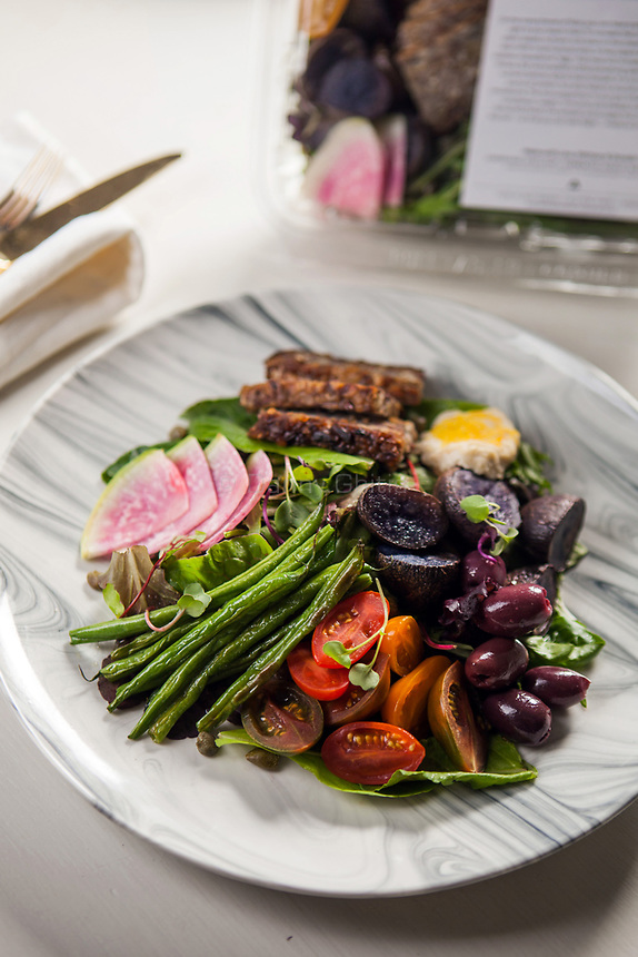 The Sakara Nicoise from Sakara Life, which comes prepared and packaged.<br /> <br /> Danny Ghitis for The New York Times