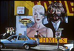 Eurythmics billboard on the side of Tower Records on the Sunset Strip circa 1986