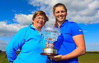 Hannah McCook (SCO) winner of the Irish Women's Open Stroke Play Championship 2018 with her mother Marion on Sunday 13th May 2018.<br />