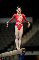 02/20/09 - Photo by John Cheng for USA Gymnastics.  Japanese gymnast Yuko Shintake performs on balance beam in a meet against US before the Tyson American Cup at Sears Centre Arena in Chicago.