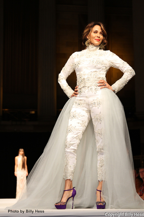 World Fashion Parade for peace Nicole ari harper on runway in gotham hall nyc photographer Billy Hess
