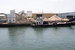 Shipping quarrying stone rock production, Poole Harbour, Poole, Dorset, England, UK