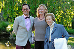 Ben Rodriguez-Cubanas, Caroline Cronson and Mary Cronson in the garden  at the Pocantico Center of the Rockefeller Brothers Fund