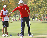 30 SEP 12  Brandt Snedeker and Caddie Scott Vale during Sundays Singles matches  at The 39th Ryder Cup at The Medinah Country Club in Medinah, Illinois.                                          (photo:  kenneth e.dennis / kendennisphoto.com)