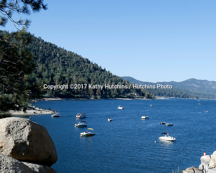 LOS ANGELES - JUL 1:  Big Bear Lake at the Scenic view at the BIg Bear Lake on July 1, 2017 in Big Bear, CA