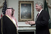 United States President Bill Clinton holds a bilateral meeting with Crown Prince Abdullah bin Abdul-Aziz Al Saud of Saudi Arabia at the Waldorf-Astoria Hotel in New York, New York on September 6, 2000..Credit: William Vasta / White House via CNP