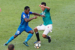 Christian Kwesi of SC Kitchee (L) in action against Ho Tsz Wong of Long Lions (R) during the Community Cup match between Kitchee and Eastern Long Lions at Mong Kok Stadium on September 23, 2017 in Hong Kong, China. Photo by Marcio Rodrigo Machado / Power Sport Images