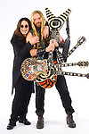 "Portrait session with Ozzy Osbourne & guitarist,  Zakk Wylde. The shoot was done to promote Osbourne's new CD, ""Black Rain,"" which was released 5/22/07."