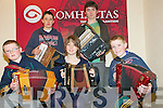 Feile Feabhra Lixnaw: Taking part in the Accordion workshop in Lixnaw on Satyrday last were in front John Daly, Aoife Enright & Conor O'Keeffe. Back : Thomas Quinlan & Conor Moriarity, Tutor.