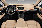 Stock photo of straight dashboard view of 2019 Cadillac XT5 Platinum 5 Door Suv Dashboard