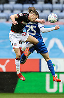 Bolton Wanderers' Joe Williams competing with Wigan Athletic's Nick Powell <br /> <br /> Photographer Andrew Kearns/CameraSport<br /> <br /> The EFL Sky Bet Championship - Wigan Athletic v Bolton Wanderers - Saturday 16th March 2019 - DW Stadium - Wigan<br /> <br /> World Copyright &copy; 2019 CameraSport. All rights reserved. 43 Linden Ave. Countesthorpe. Leicester. England. LE8 5PG - Tel: +44 (0) 116 277 4147 - admin@camerasport.com - www.camerasport.com