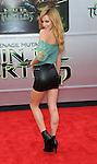 Bella Thorne arriving to the Teenage Mutant Ninja Turtles Premiere held at the Regency Village Theater Los Angeles, Ca. August 3, 2014.