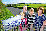 Members of the Knockanure community alert who had their new signs vandalised from left: Margaret Carmody, Secetery, Matt Mulvhill, Anne Mulvhill and Bernie Stackpool.