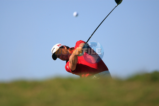 Graeme McDowell (N.IRL) tees off on the 5th tee during the morning session on Day 3 of the Volvo World Match Play Championship in Finca Cortesin, Casares, Spain, 21st May 2011. (Photo Eoin Clarke/Golffile 2011)