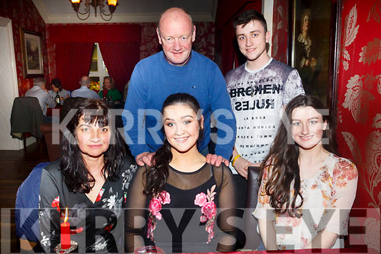 Celebrating her 16th birthday was Niamh Foley from Keel,  at Cassidy's on Friday  were Front l-r Maureen Foley, Niamh Foley, Laura Foley, Back l-r Thomas Foley and Cathal Foley