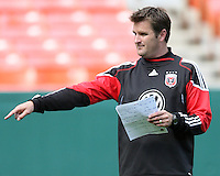 Curt Onalfo coach of DC United at a practice session for DC United and AC Milan at RFK Stadium in Washington DC on may 25 2010.