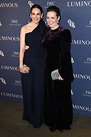 LONDON, UK. October 01, 2019: Sian Clifford & Olivia Colman at the Luminous Gala 2019 at the Roundhouse Camden, London.<br /> Picture: Steve Vas/Featureflash