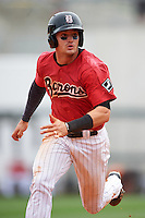Birmingham Barons designated hitter Adam Engel (7) running the bases during a game against the Pensacola Blue Wahoos on May 2, 2016 at Regions Field in Birmingham, Alabama.  Pensacola defeated Birmingham 6-3.  (Mike Janes/Four Seam Images)