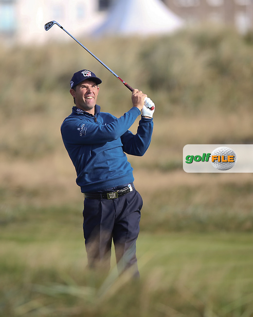 02  OCT 14 Irishman Padraig Harrington at Carnoustie during Round 1 of The Alfred Dunhill Links Championship in St. Andrews, Scotland. (photo credit : kenneth e. dennis/kendennisphoto.com)