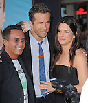 Jonathon Komack Martin,Sandra Bullock and Ryan Reynolds attends The Universal Pictures' L.A. Premiere of The Change-Up held at The Village Theatre in Westwood, California on August 01,2011                                                                               © 2011 DVS / Hollywood Press Agency