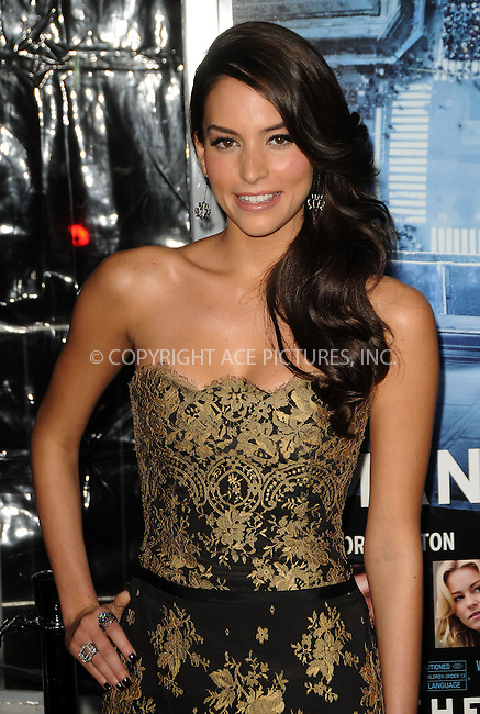 WWW.ACEPIXS.COM . . . . .  ....January 23 2012, LA....Genesis Rodriguez arriving at the premiere of  'Man On A Ledge' at Grauman's Chinese Theatre on January 23, 2012 in Hollywood, California.....Please byline: PETER WEST - ACE PICTURES.... *** ***..Ace Pictures, Inc:  ..Philip Vaughan (212) 243-8787 or (646) 679 0430..e-mail: info@acepixs.com..web: http://www.acepixs.com