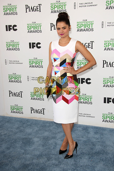 SANTA MONICA, CA - March 01: Melonie Diaz at the 2014 Film Independent Spirit Awards Arrivals, Santa Monica Beach, Santa Monica,  March 01, 2014. Credit: Janice Ogata/MediaPunch<br /> CAP/MPI/JO<br /> &copy;JO/MPI/Capital Pictures