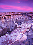 Weathered by wind and water, hoodoos from the Fruitland and the Kirtland Shale formations litter the Bisti Badlands