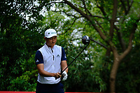 Haotong Li (CHN) on the 9th tee  during the 1st round at the WGC HSBC Champions 2018, Sheshan Golf Club, Shanghai, China. 25/10/2018.<br />