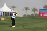 Damien McGrane (IRL) plays his 2nd shot on the 10th hole during Friday's Round 3 of the Commercial Bank Qatar Masters 2013 at Doha Golf Club, Doha, Qatar 25th January 2013 .Photo Eoin Clarke/www.golffile.ie