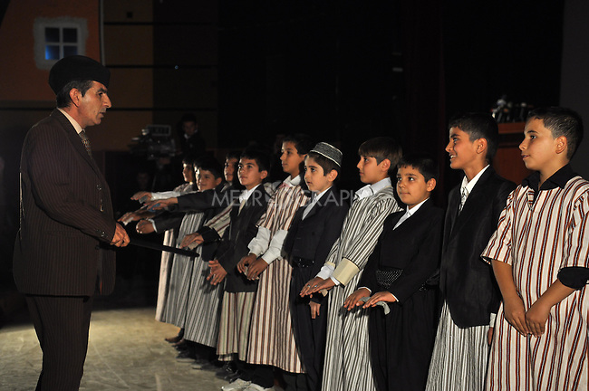 SULAYMANIYAH, IRAQ: Children put on a play about school during the Sulaimaniyah festival...November 14, 2010, Sulaymaniyah celebrates its 225th birthday...Photo by Aram Karim/Metrography