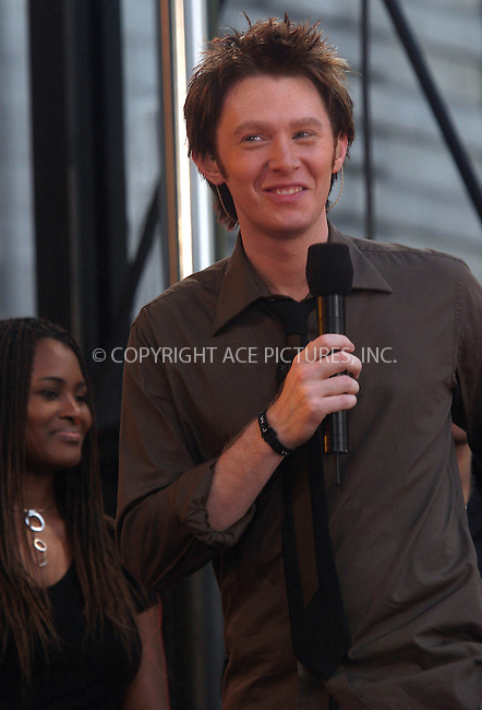 "July 2, 2004- Clay Aiken performs on ""Good Morning America's"" Summer Concert Series in New York City"