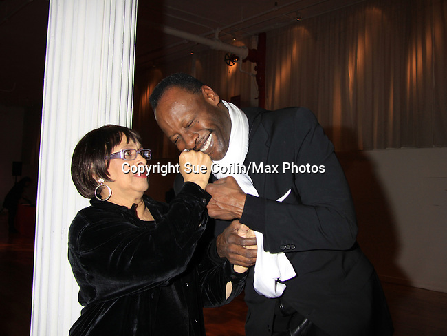 """As The World Turns; Law and Order SVU Tamara Tunie's mom GG and husband Gregory Generet at Hearts of Gold's 16th Annual Fall Fundraising Gala & Fashion Show """"Come to the Cabaret"""", a benefit gala for Hearts of Gold on November 16, 2012 at the Metropolitan Pavilion, New York City, New York.   (Photo by Sue Coflin/Max Photos)"""