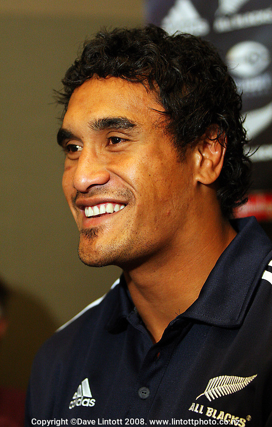 Jerome Kaino during the All Blacks Media Session at the Intercontinental Hotel, Wellington, New Zealand on Wednesday 4 June 2008. Photo: Dave Lintott / lintottphoto.co.nz