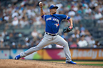 Roberto Osuna (Blue Jays),<br /> AUGUST 9, 2015 - MLB :<br /> Roberto Osuna of the Toronto Blue Jays pitches during the Major League Baseball game against the New York Yankees at Yankee Stadium in the Bronx, New York, United States. (Photo by Thomas Anderson/AFLO) (JAPANESE NEWSPAPER OUT)