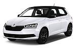 2019 Skoda Fabia Ambition 5 Door Hatchback angular front stock photos of front three quarter view