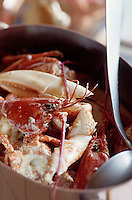 """Europe/France/Bretagne/29/Finistère/Cap Sizun/Cleden: Marmite de homard - Recette de Huguette Le Gall du restaurant """"L'Etrave"""""""