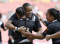 New Zealand's Honey Hireme celebrates after scoring a try during the women's Rugby League World Cup final between Australia and New Zealand, Suncorp Stadium, Brisbane, Australia, 2 December 2017. Copyright Image: Tertius Pickard / www.photosport.nz MANDATORY CREDIT/BYLINE : Tertius Pickard/SWpix.com/PhotosportNZ