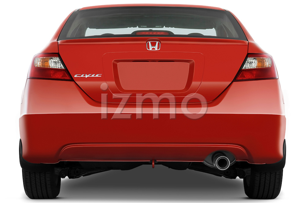 Straight rear view of a 2009 Honda Civic Coupe EX