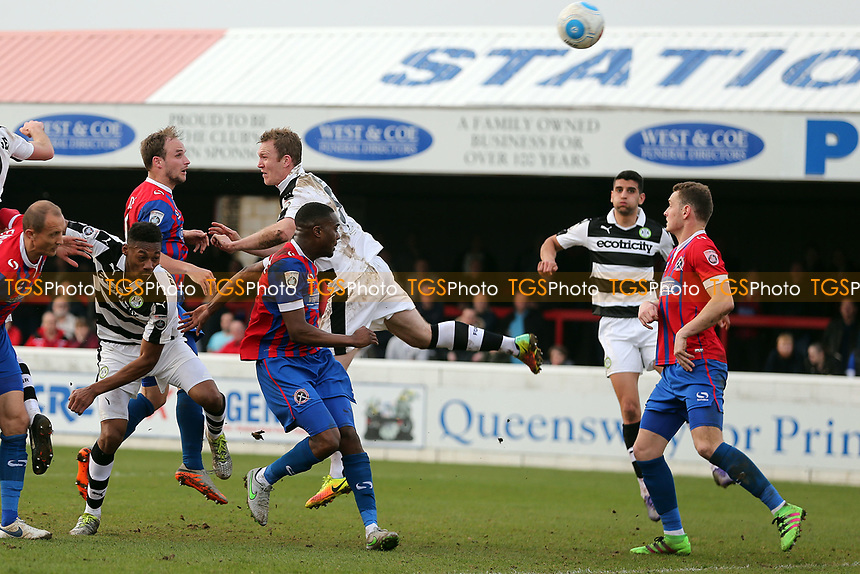 Scott Doe of Dagenham scores the second goal during Dagenham & Redbridge vs Forest Green Rovers, Vanarama National League Football at the Chigwell Construction Stadium on 11th March 2017