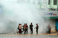 The army fire tear gas and live rounds in response to continued protests led by Buddhist monks calling for the overthrow of the country's military junta. A number of protesters were killed after the military threatened that they would shoot on sight any gatherings of over four people.