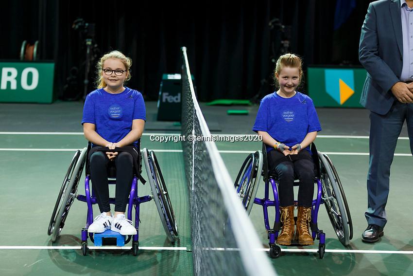 Rotterdam, The Netherlands, 15 Februari 2020, ABNAMRO World Tennis Tournament, Ahoy, <br /> Wheelchair: Final. Alfie Hewett (GBR), Gordon Reid (GBR).<br /> Photo: www.tennisimages.com