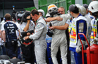F1 GP of Brazil, Sao Paulo - Interlagos 05.- 07. Nov. 2010.Nico Huelkenberg (GER), Williams F1 Team - Michael Schumacher (GER), Mercedes GP ..Picture: Hasan Bratic/Universal News And Sport (Europe) 6 November 2010.