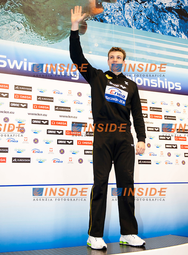 Szeszecin Stettino POL  - 8/12/2011.European Swimming  Short Course Championships.Swimming Nuoto finals finali .BIEDERMANN Paul GER.gold medal  .400 Free M.Photo Insidefoto / Giorgio Scala..