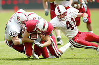 Defense during the Spring Game on April 26, 2003 at Stanford Stadium.<br />