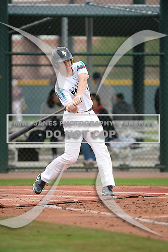 Noah Gent (4) of Grace Christian Academy High School in Corryton, Tennessee during the Under Armour All-American Pre-Season Tournament presented by Baseball Factory on January 14, 2017 at Sloan Park in Mesa, Arizona.  (Art Foxall/Mike Janes Photography)